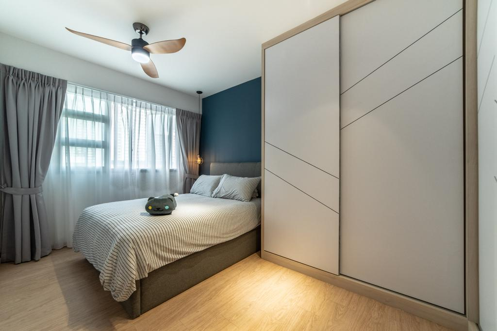 Scandinavian, HDB, Bedroom, Telok Blangah Parcview, Interior Designer, Luova Project Services