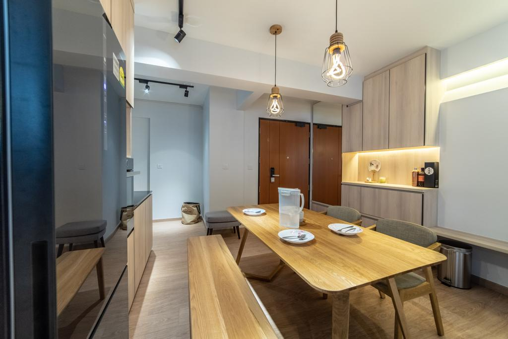 Scandinavian, HDB, Dining Room, Telok Blangah Parcview, Interior Designer, Luova Project Services