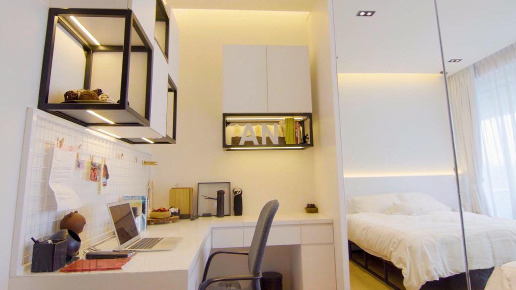 Modern, Condo, Bedroom, Scotts Highpark, Interior Designer, Posh Home, Contemporary