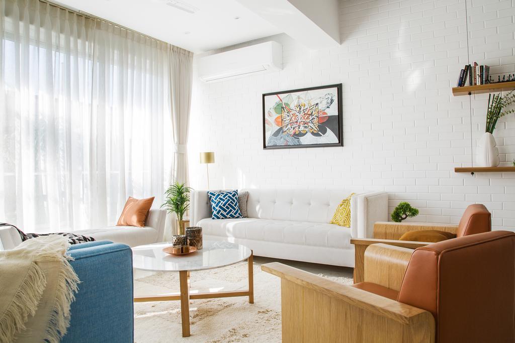 Modern, Condo, Living Room, Scotts Road, Interior Designer, Livspace