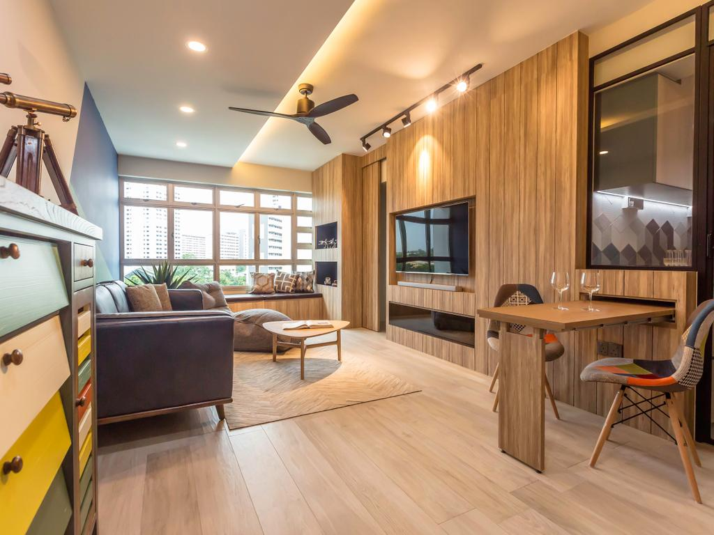 Contemporary, HDB, Living Room, Ghim Moh (Block 22), Interior Designer, Imposed Design