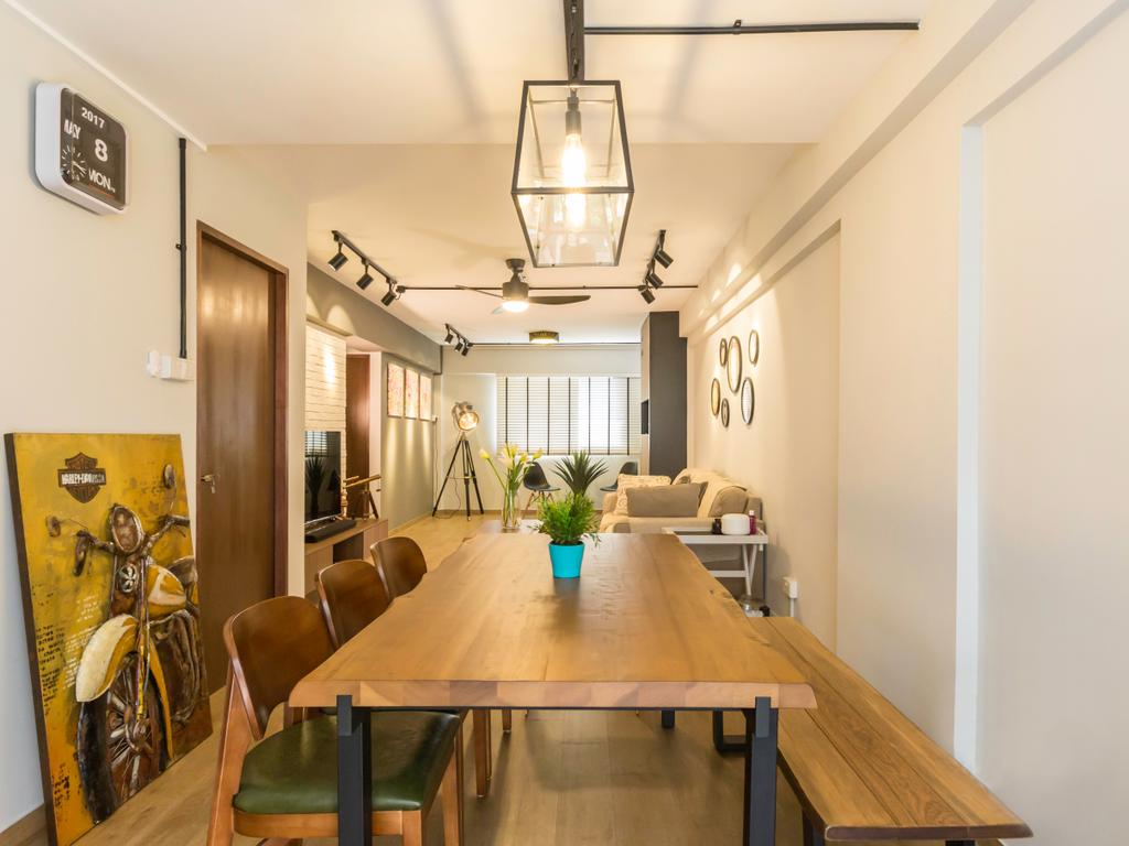 Scandinavian, HDB, Dining Room, Bedok North Avenue 1 (Block 519), Interior Designer, Imposed Design