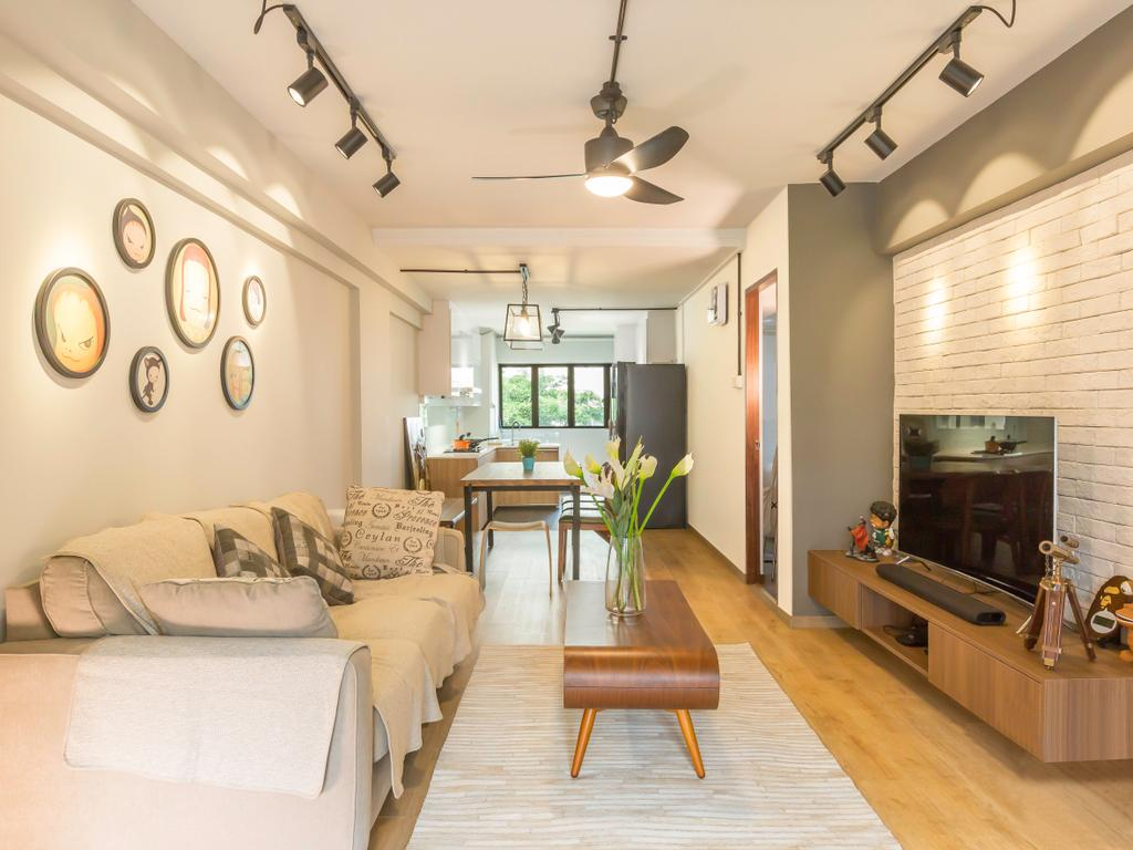 Scandinavian, HDB, Living Room, Bedok North Avenue 1 (Block 519), Interior Designer, Imposed Design