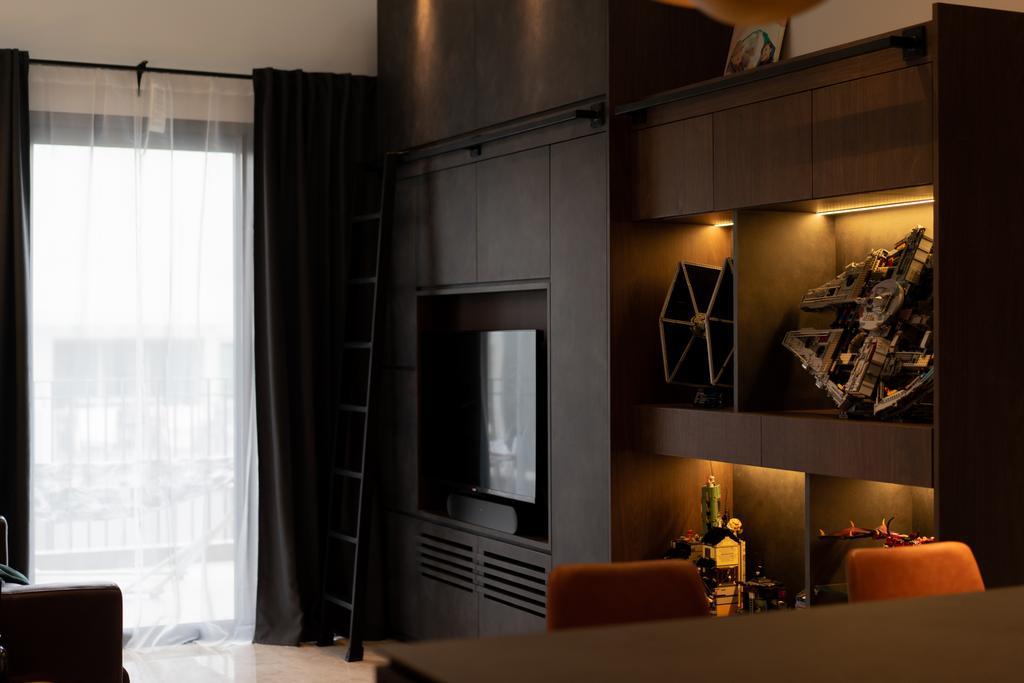 Modern, Condo, Living Room, Lakeside Drive, Interior Designer, Authors • Interior & Styling, Contemporary