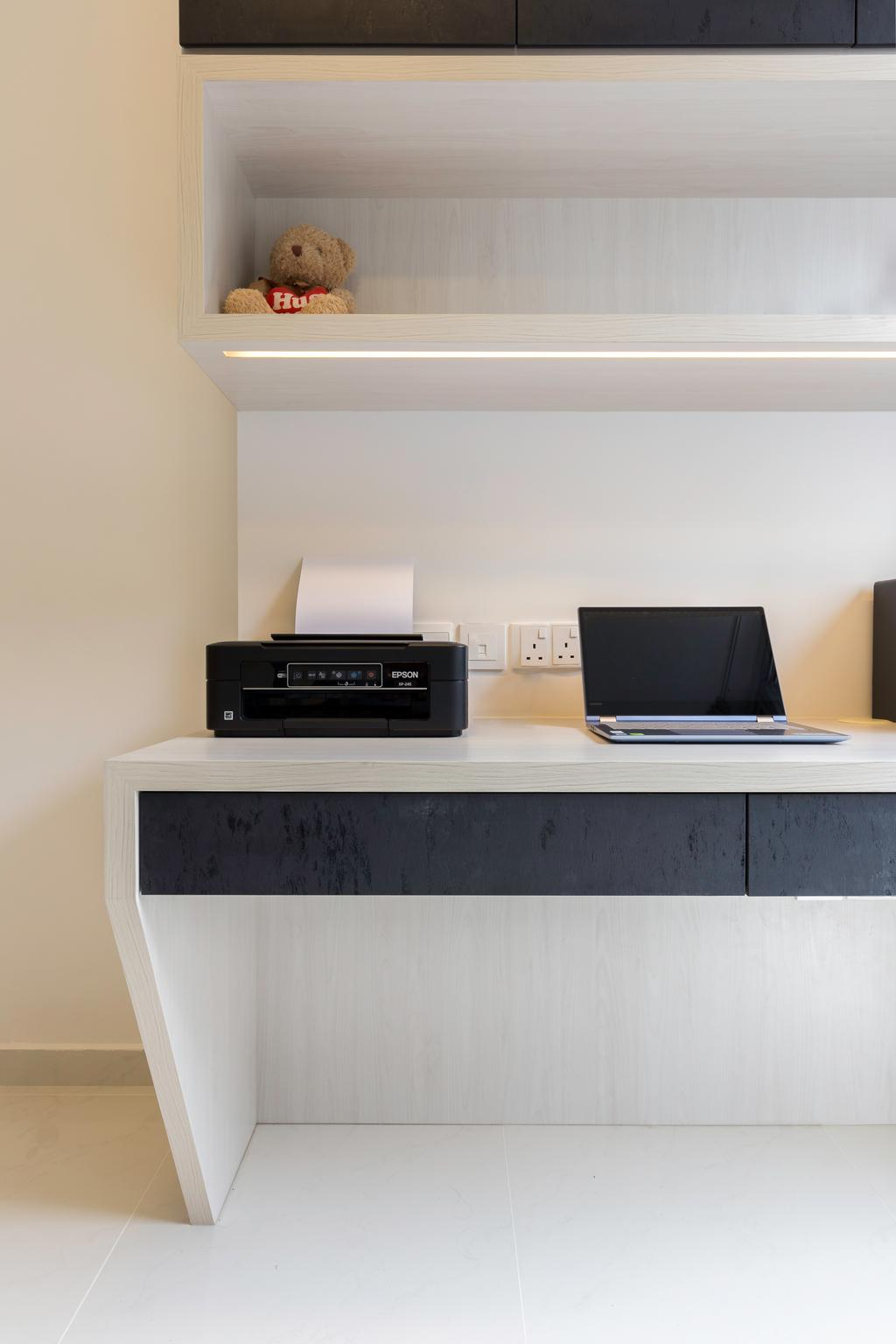 Modern, Condo, Study, Canberra Residences, Interior Designer, Starry Homestead, Scandinavian