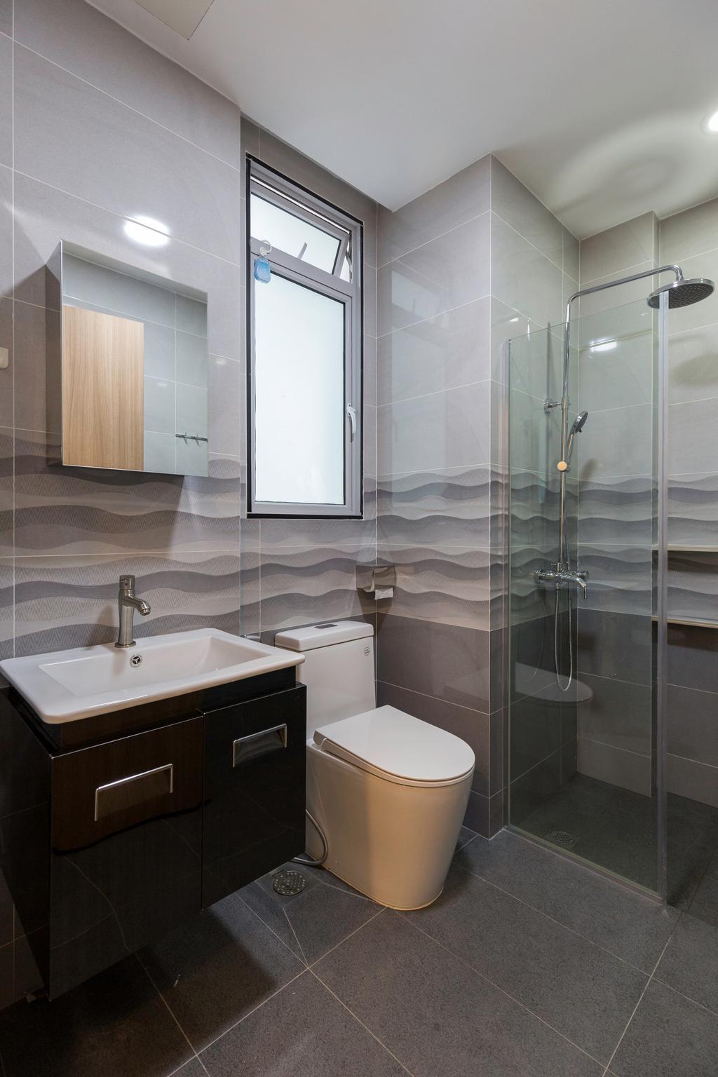 Modern, Condo, Bathroom, Canberra Residences, Interior Designer, Starry Homestead, Scandinavian