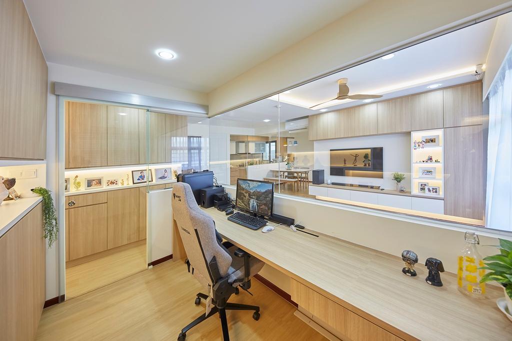 Modern, HDB, Study, Tampines GreenRidges, Interior Designer, The Interior Lab