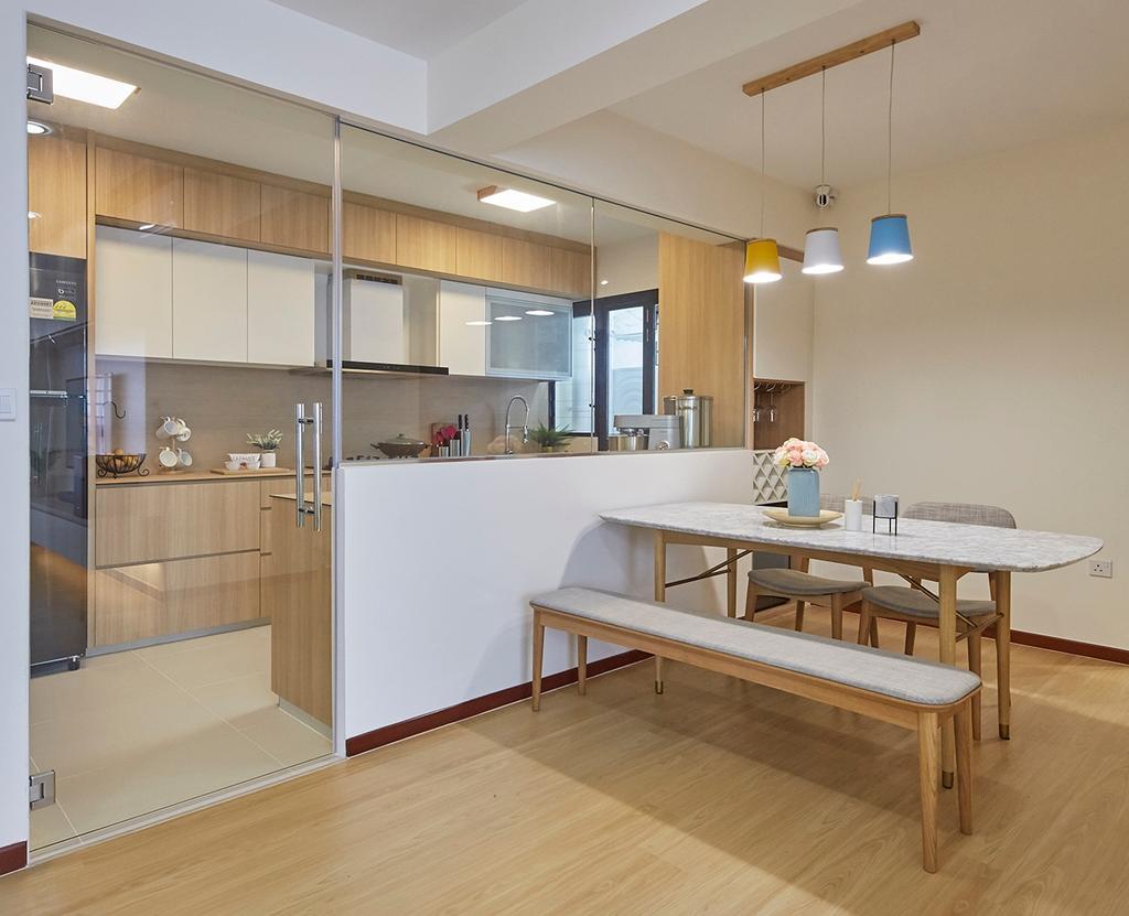 Modern, HDB, Dining Room, Tampines GreenRidges, Interior Designer, The Interior Lab