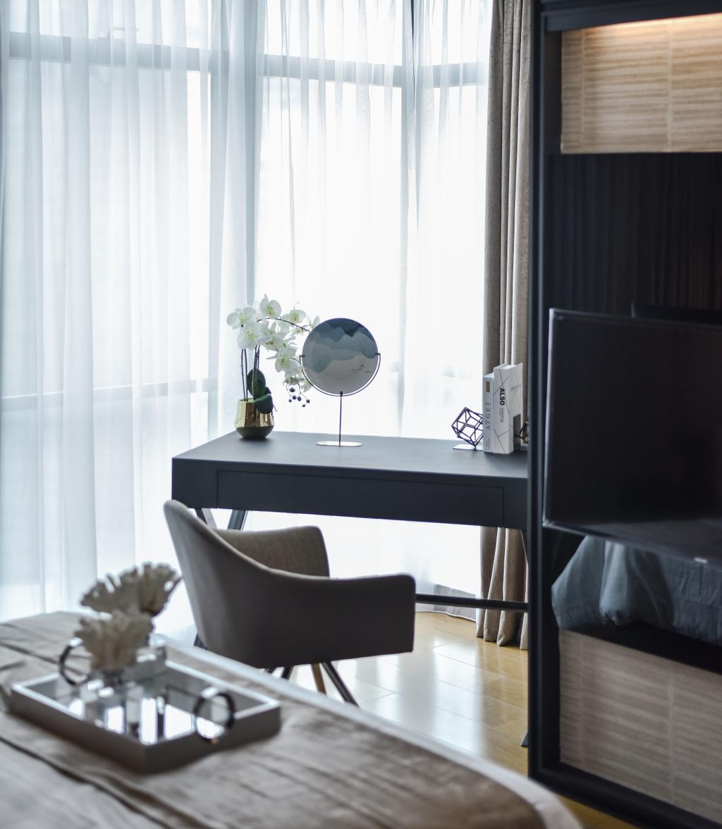 Contemporary, Condo, Bedroom, Ritz Carlton Residence, Kuala Lumpur, Interior Designer, Blaine Robert Design Sdn. Bhd., Modern