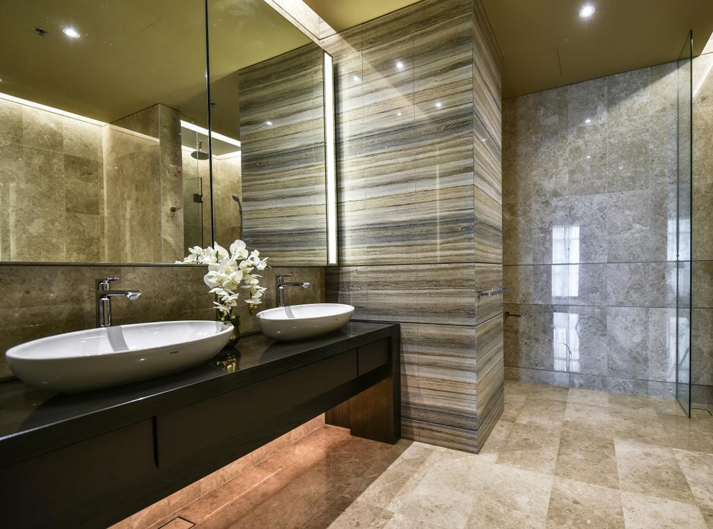 Contemporary, Condo, Bathroom, Ritz Carlton Residence, Kuala Lumpur, Interior Designer, Blaine Robert Design Sdn. Bhd., Modern