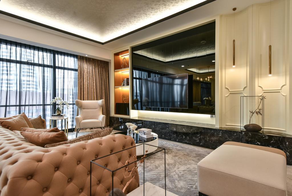 Contemporary, Condo, Living Room, Ritz Carlton Residence, Kuala Lumpur, Interior Designer, Blaine Robert Design Sdn. Bhd., Modern