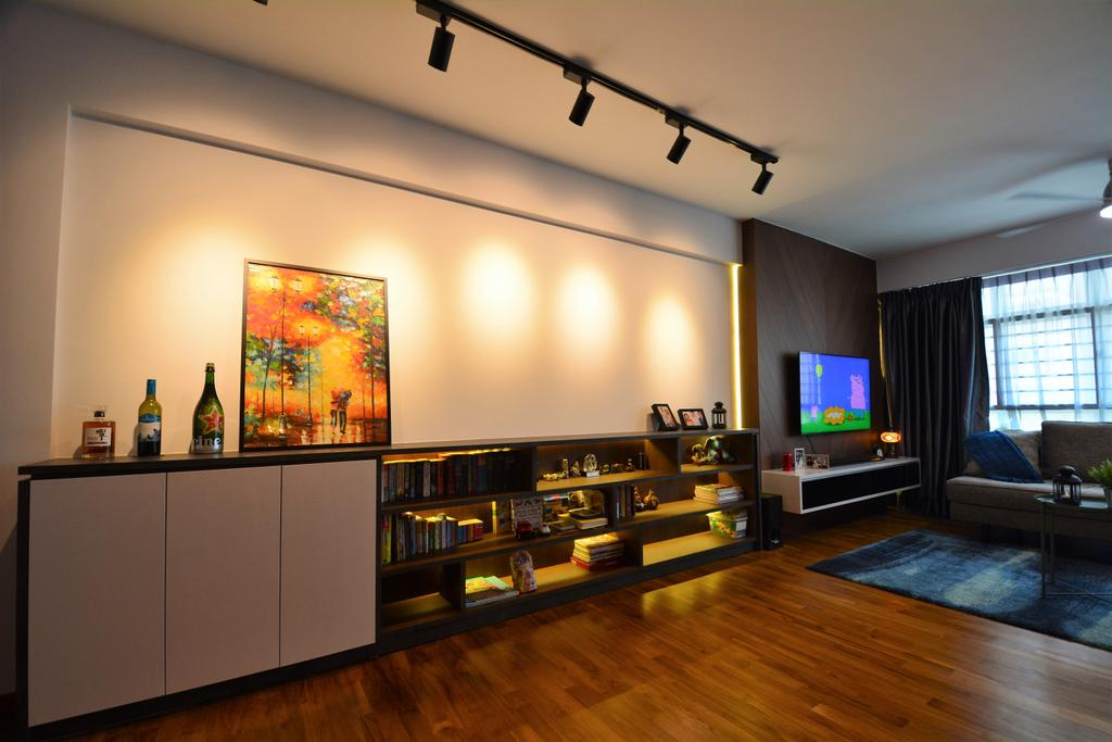 Contemporary, HDB, Living Room, Bukit Batok West Avenue 6 (Block 452), Interior Designer, Diva's Interior Design