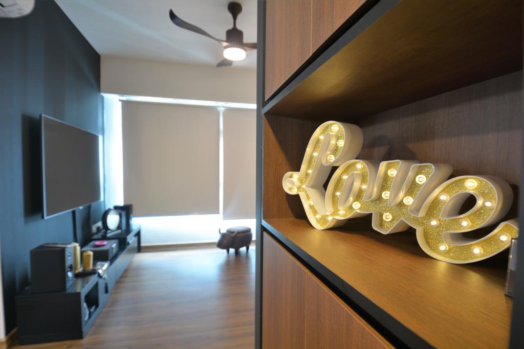 Contemporary, HDB, Living Room, Buangkok Crescent (Block 996A), Interior Designer, Diva's Interior Design