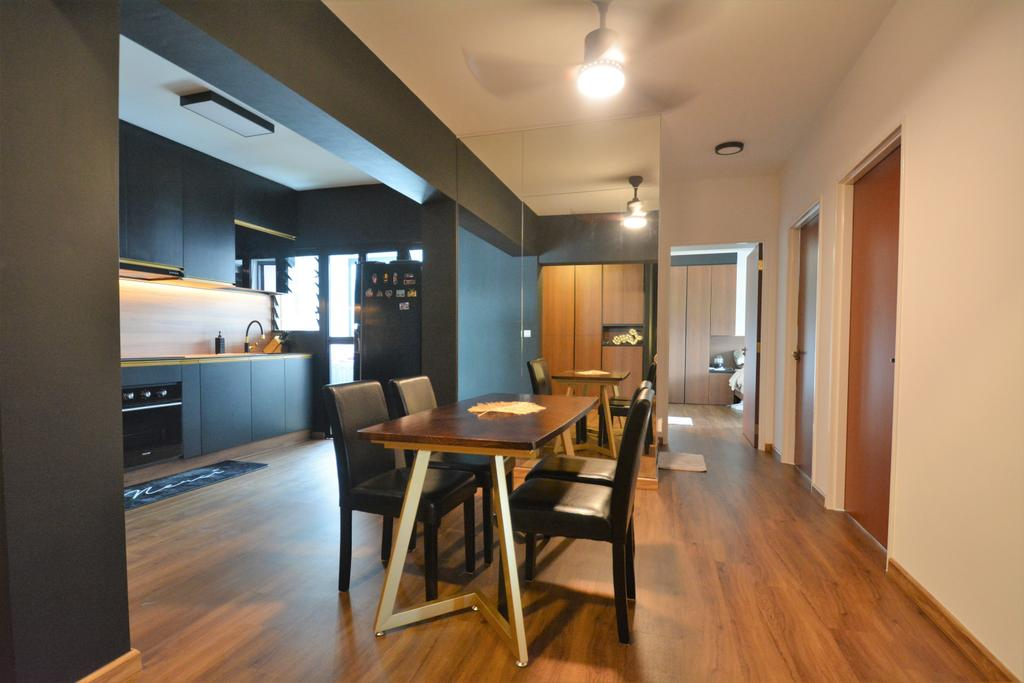 Contemporary, HDB, Dining Room, Buangkok Crescent (Block 996A), Interior Designer, Diva's Interior Design