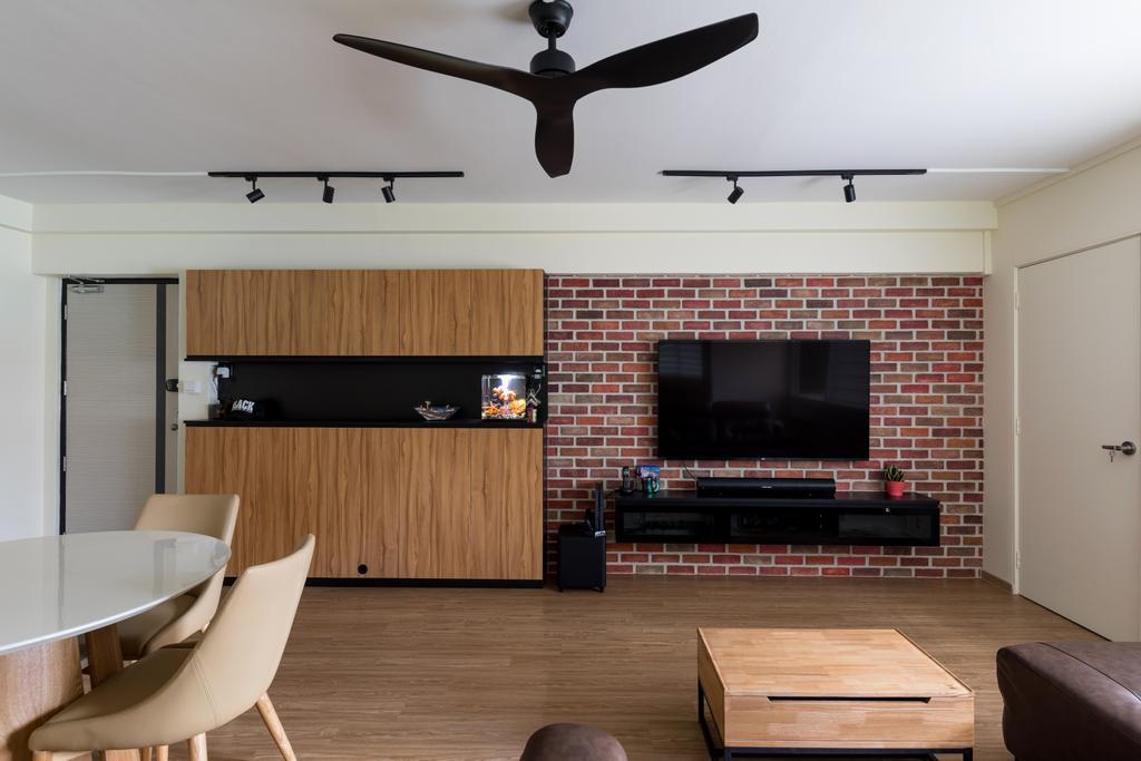 Modern, HDB, Living Room, Pasir Ris Street 71, Interior Designer, GB Interior Design, Scandinavian