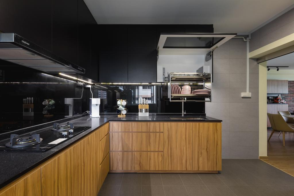 Modern, HDB, Kitchen, Pasir Ris Street 71, Interior Designer, GB Interior Design, Scandinavian