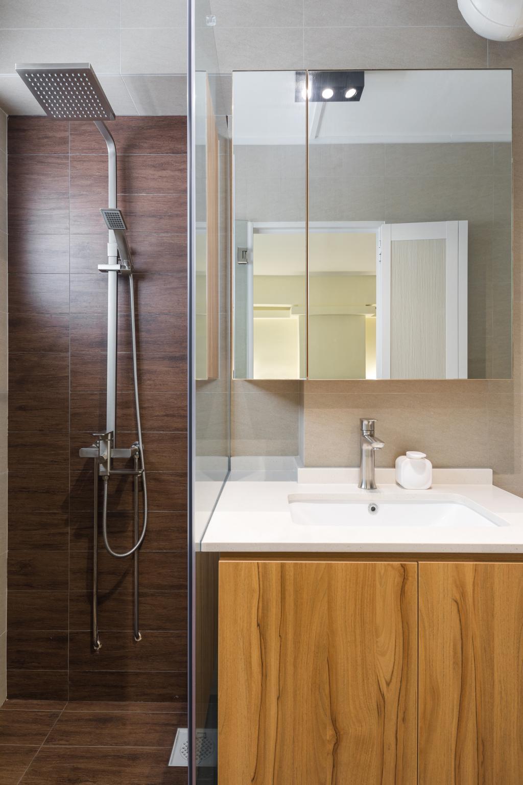 Modern, HDB, Bathroom, Pasir Ris Street 71, Interior Designer, GB Interior Design, Scandinavian