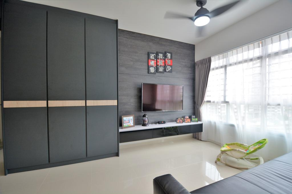 Contemporary, HDB, Living Room, Bukit Batok West Avenue 8 (Block 440B), Interior Designer, Diva's Interior Design