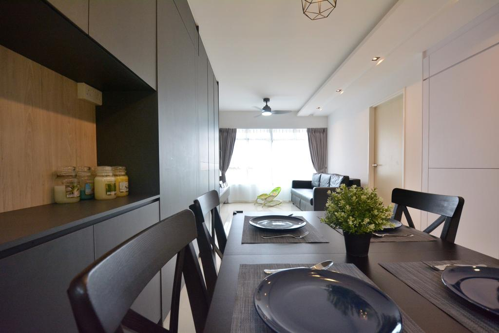 Contemporary, HDB, Dining Room, Bukit Batok West Avenue 8 (Block 440B), Interior Designer, Diva's Interior Design