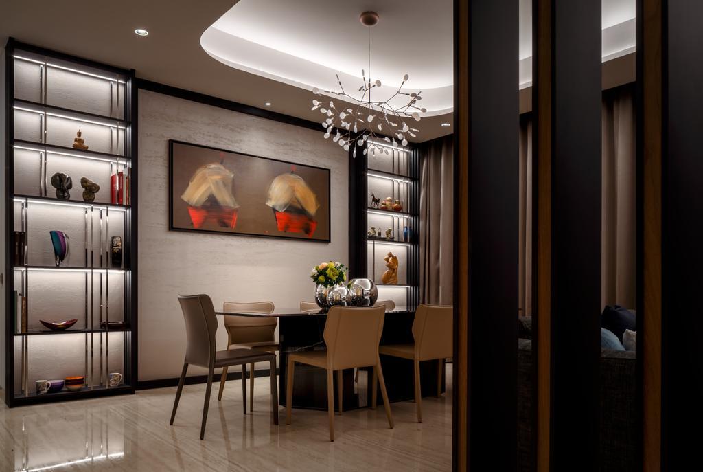 Modern, Condo, Dining Room, Bishopsgate Residences, Interior Designer, Summerhaus D'zign, Contemporary