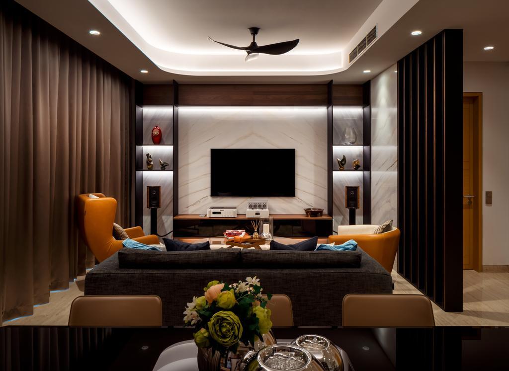 Modern, Condo, Living Room, Bishopsgate Residences, Interior Designer, Summerhaus D'zign, Contemporary