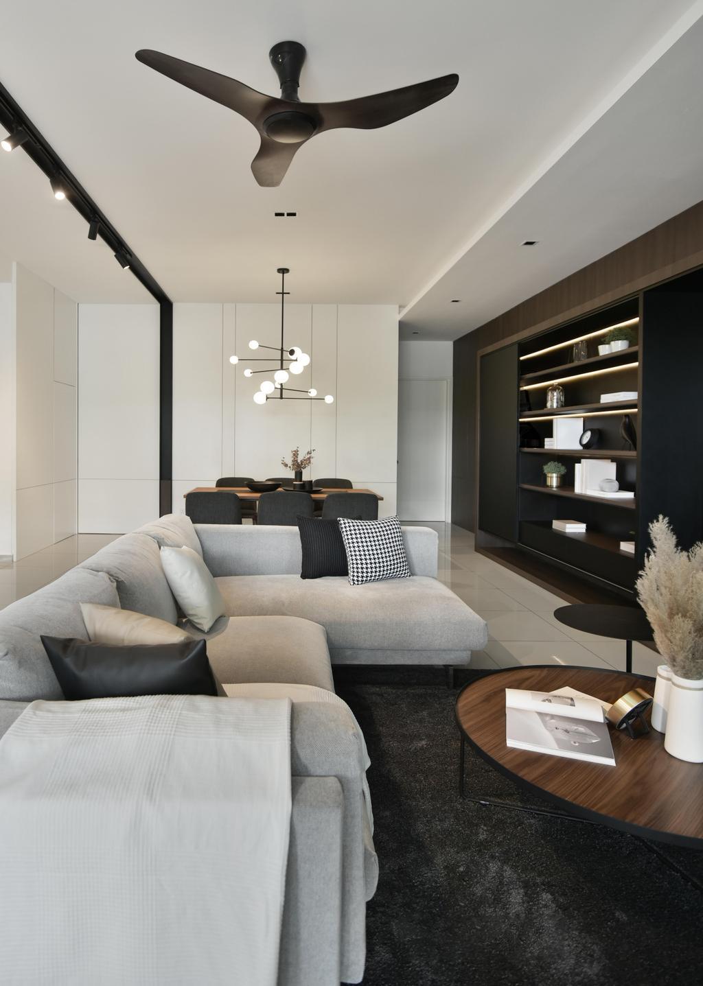 Contemporary, Landed, Living Room, Cradelton Eco Majestic, Semenyih, Interior Designer, PINS Studio