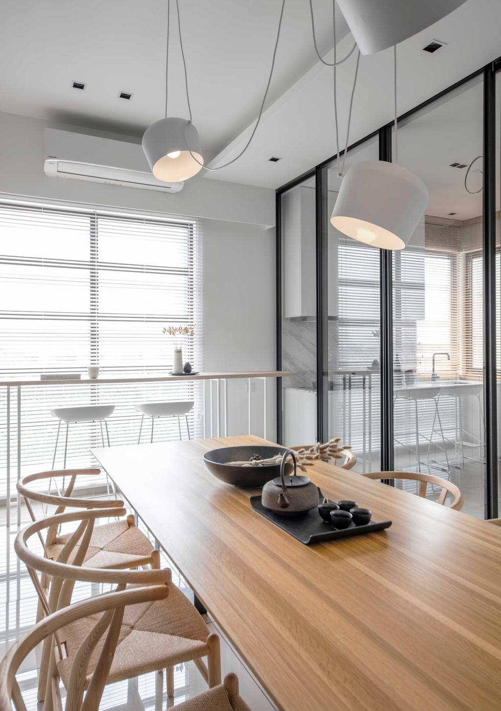 Minimalistic, Landed, Dining Room, Ayden Town House, Sepang, Interior Designer, PINS Studio