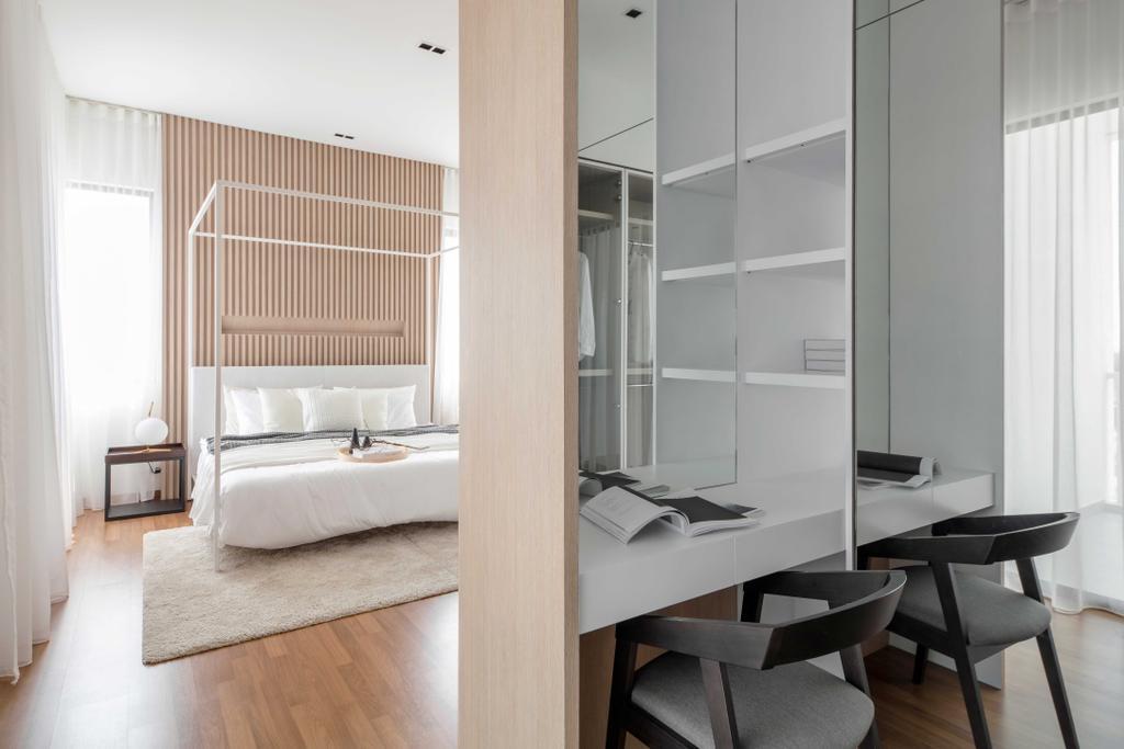 Minimalistic, Landed, Bedroom, Ayden Town House, Sepang, Interior Designer, PINS Studio
