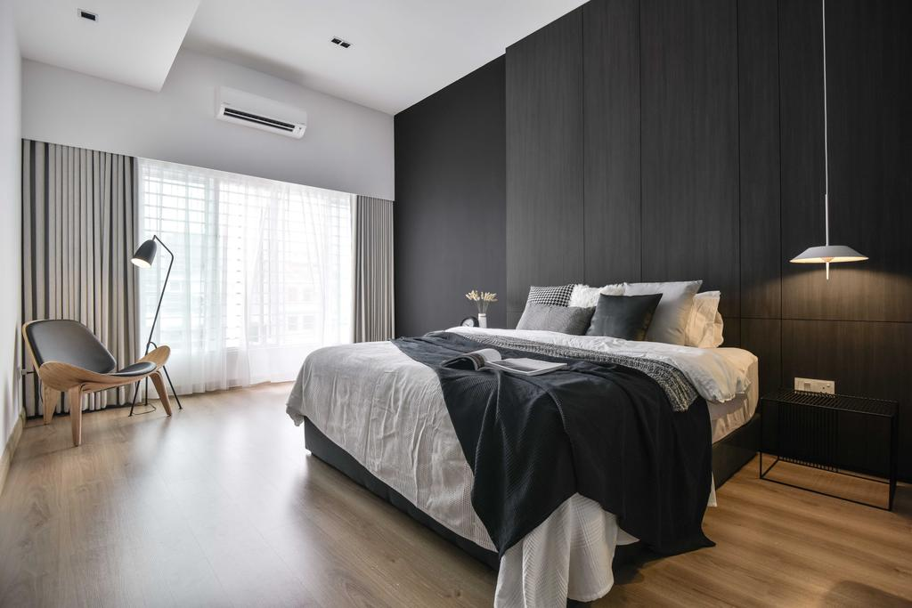 Minimalistic, Condo, Bedroom, Taman Sri Gadong, Klang, Interior Designer, PINS Studio, Contemporary