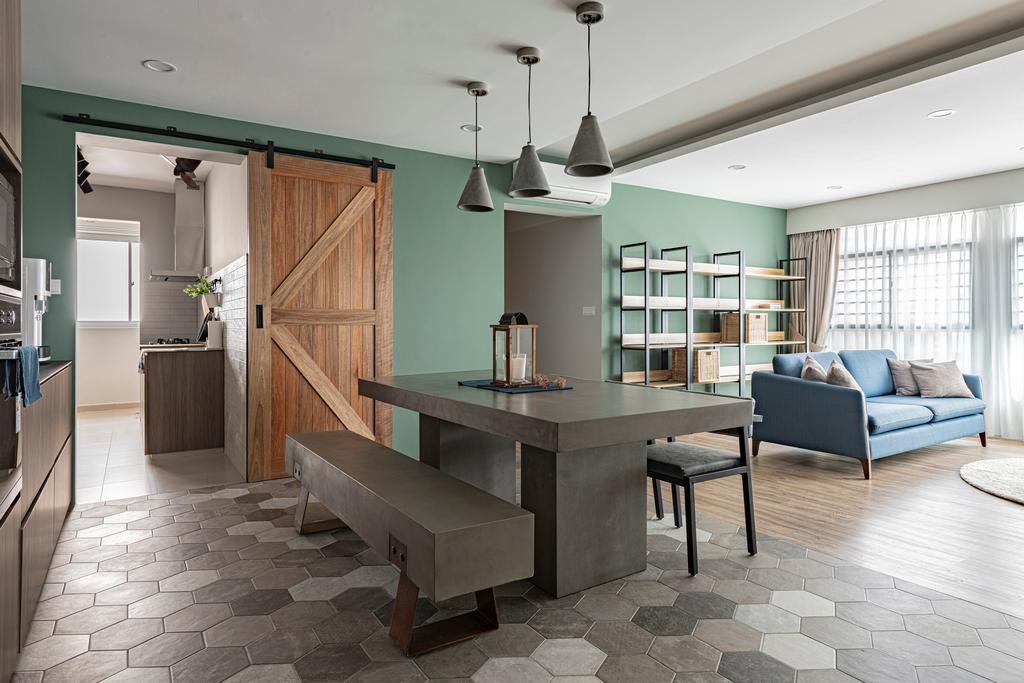 Modern, HDB, Living Room, Bukit Batok West Avenue 6, Interior Designer, Zenith Arc, Scandinavian