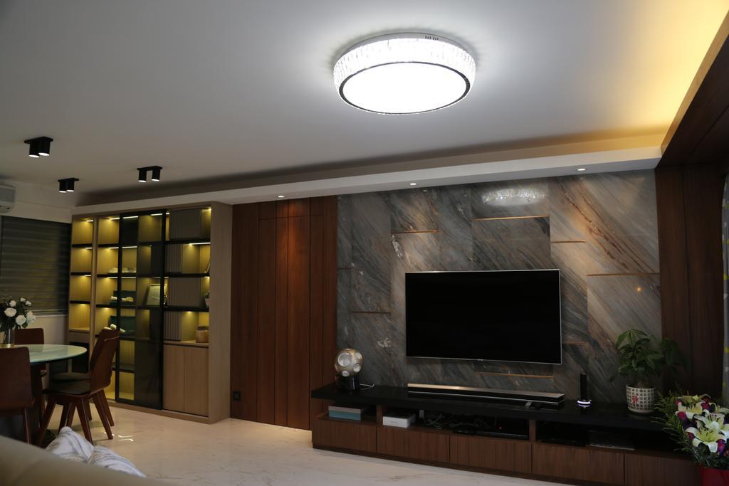 摩登, 私家樓, 客廳, 城市花園4座, 室內設計師, Epic, 簡約