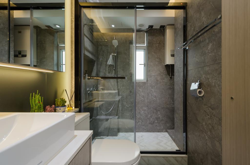簡約, 私家樓, 浴室, 將軍澳煜明苑, 室內設計師, Epic, 摩登