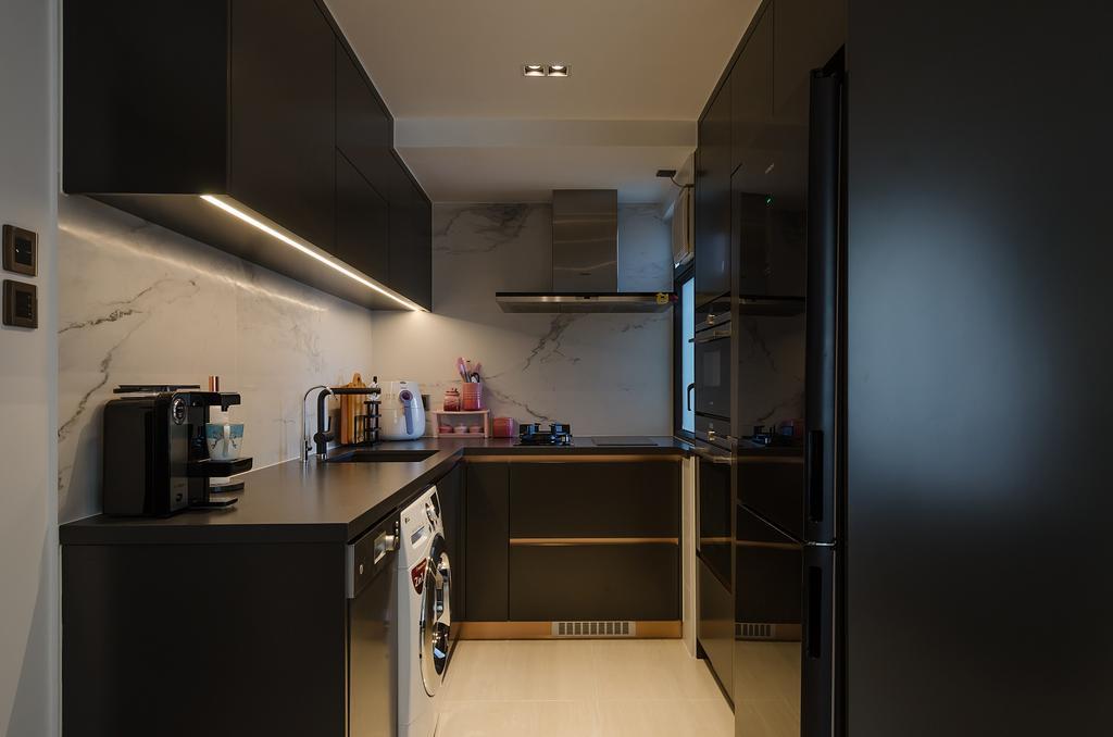 簡約, 私家樓, 廚房, 鯉景灣安明閣, 室內設計師, Epic, 摩登