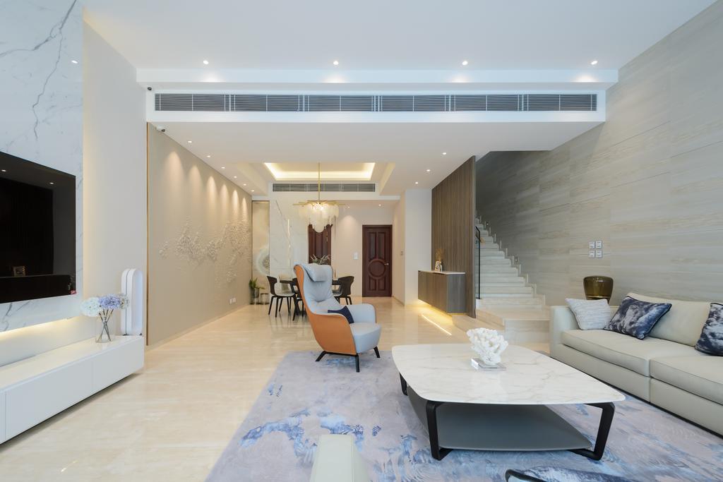 簡約, 獨立屋, 客廳, 赤柱村道, 室內設計師, Epic, 摩登