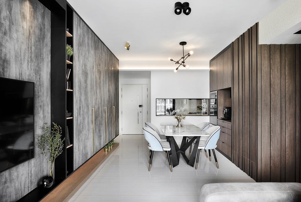 Modern, Condo, Dining Room, Riversound Residence, Interior Designer, Icon Interior Design
