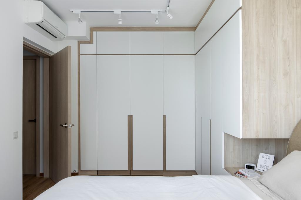 Minimalistic, HDB, Bedroom, Anchorvale Crescent, Interior Designer, Aestherior