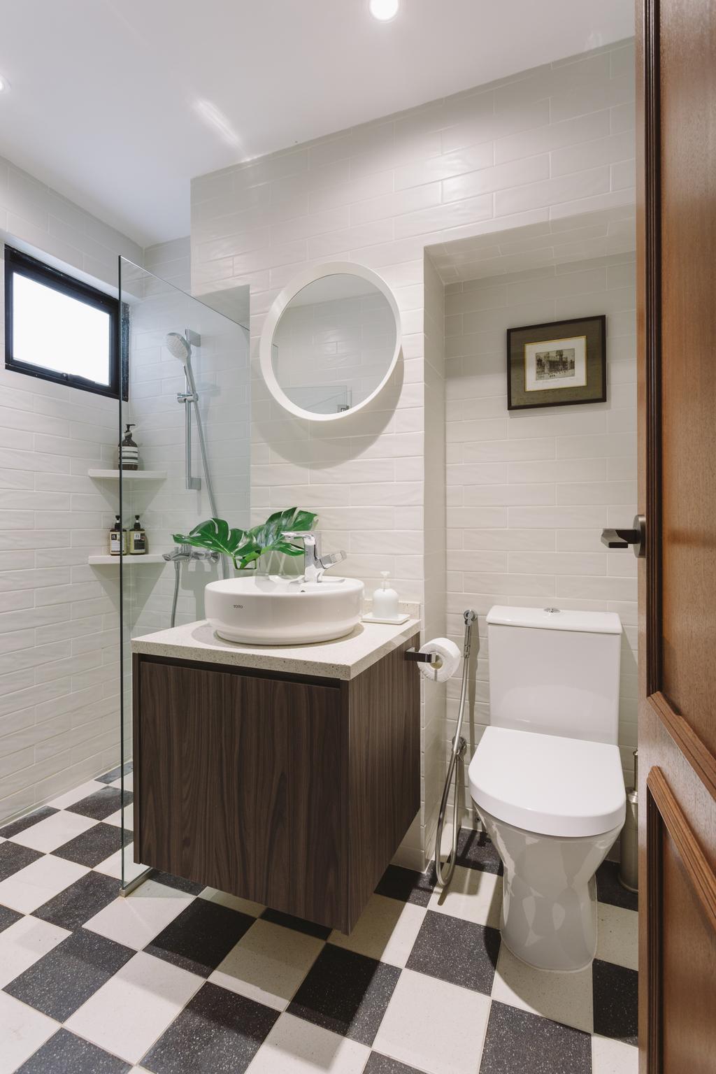 Vintage, Condo, Bathroom, Neptune Court, Interior Designer, D Initial Concept, Eclectic