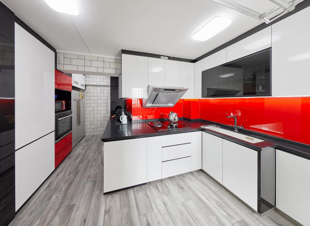 Contemporary, HDB, Kitchen, Bishan Street 12, Interior Designer, Absolook Interior Design