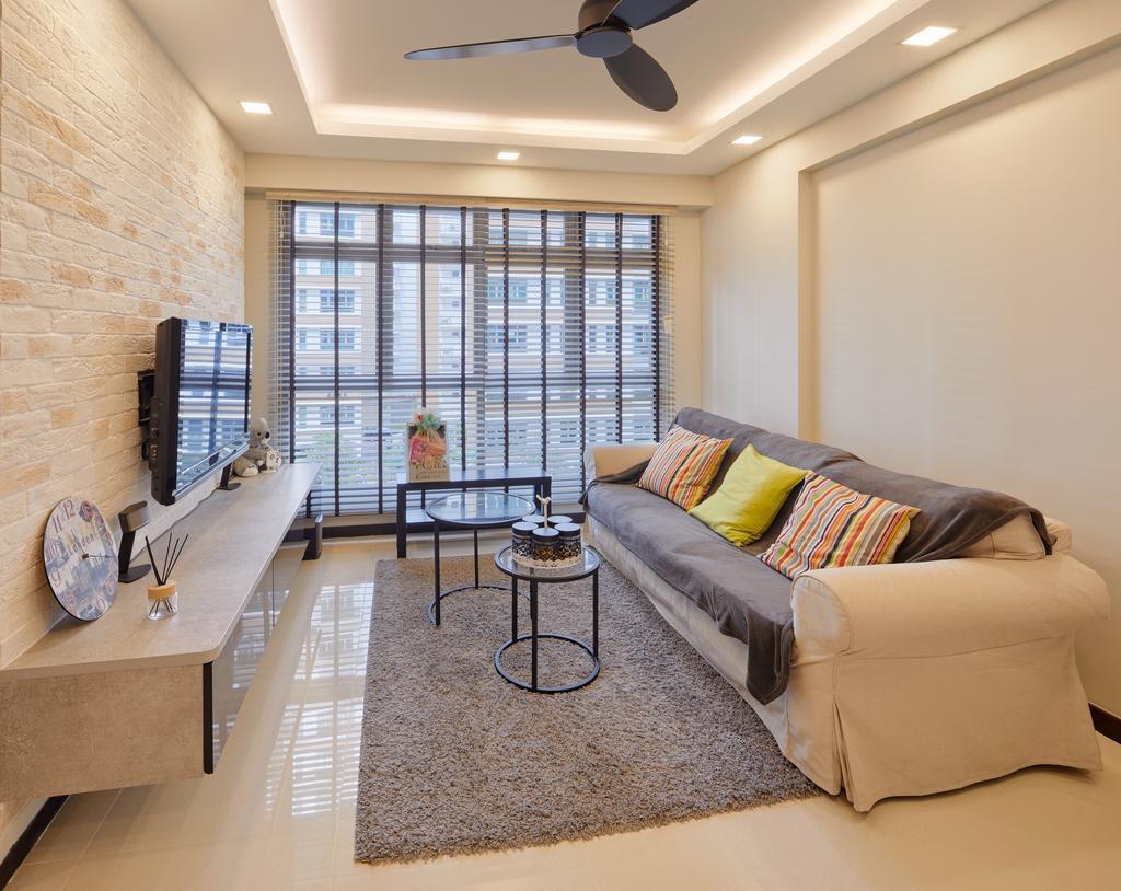 Contemporary, HDB, Living Room, Edgedale Plains (Block 682B), Interior Designer, Absolook Interior Design