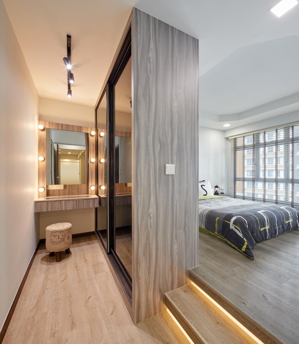 Contemporary, HDB, Bedroom, Edgedale Plains (Block 682B), Interior Designer, Absolook Interior Design