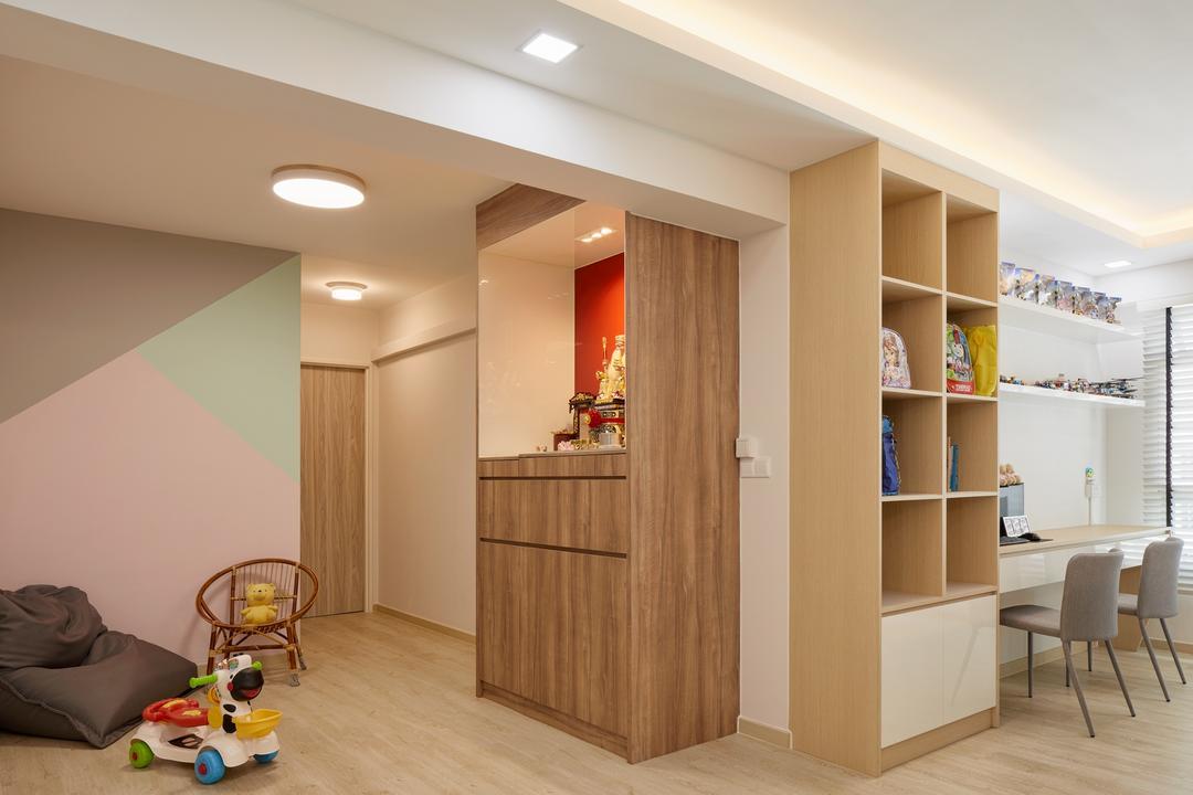 Park Grove @ Yishun, Absolook Interior Design, Scandinavian, Living Room, HDB, Altar, Prayer Corner