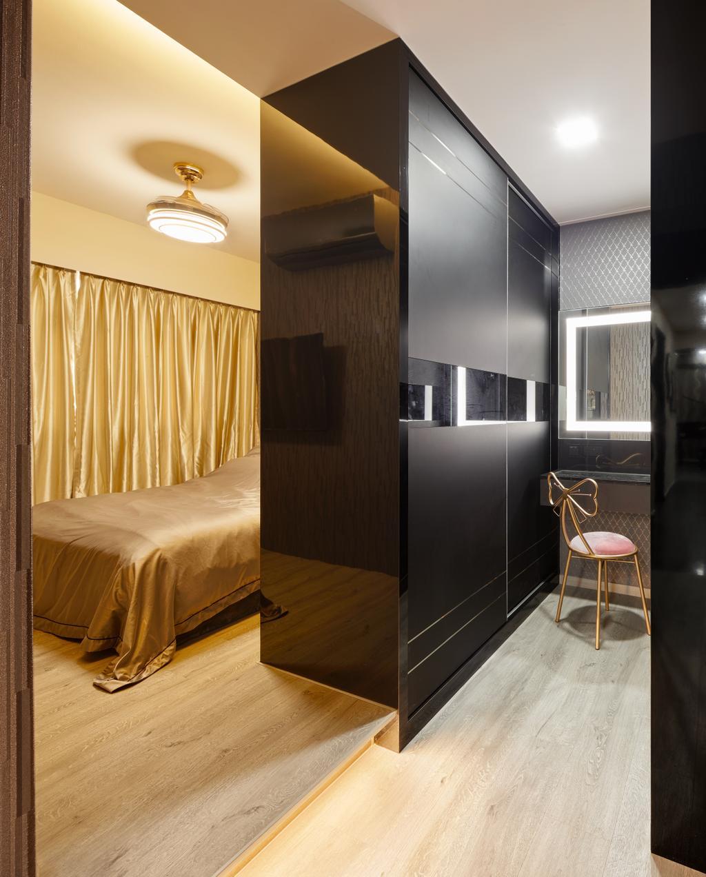 Contemporary, HDB, Bedroom, Buangkok Link (Block 991A), Interior Designer, Absolook Interior Design