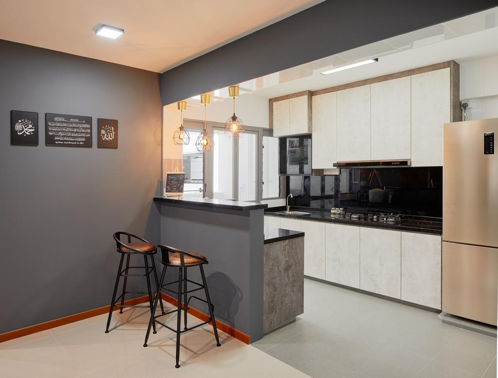 Contemporary, HDB, Kitchen, Punggol East (Block 658A), Interior Designer, Absolook Interior Design