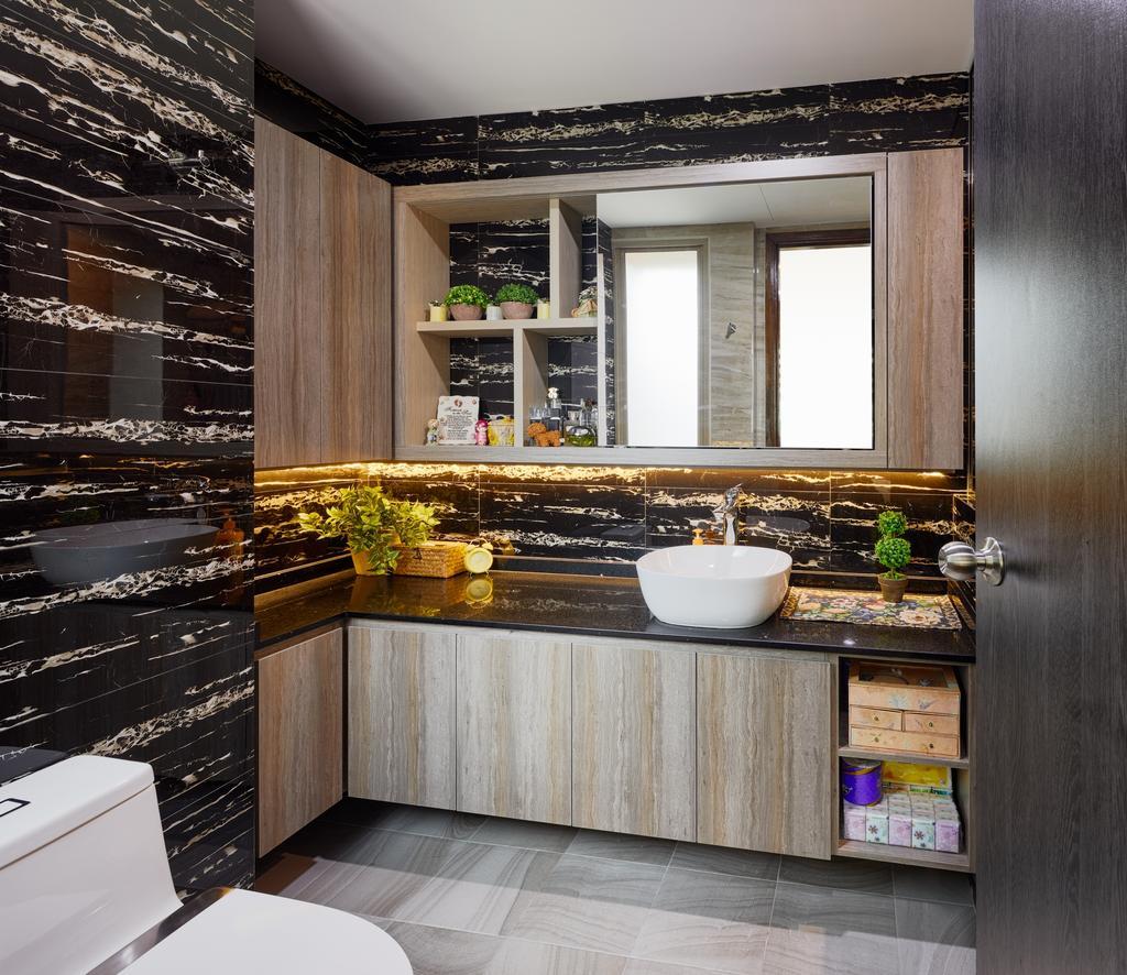 Contemporary, HDB, Bathroom, Rivervale Link, Interior Designer, Absolook Interior Design