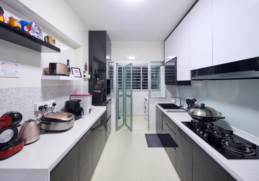 Contemporary, HDB, Kitchen, Sembawang Crescent (Block 365C), Interior Designer, Absolook Interior Design, Modern