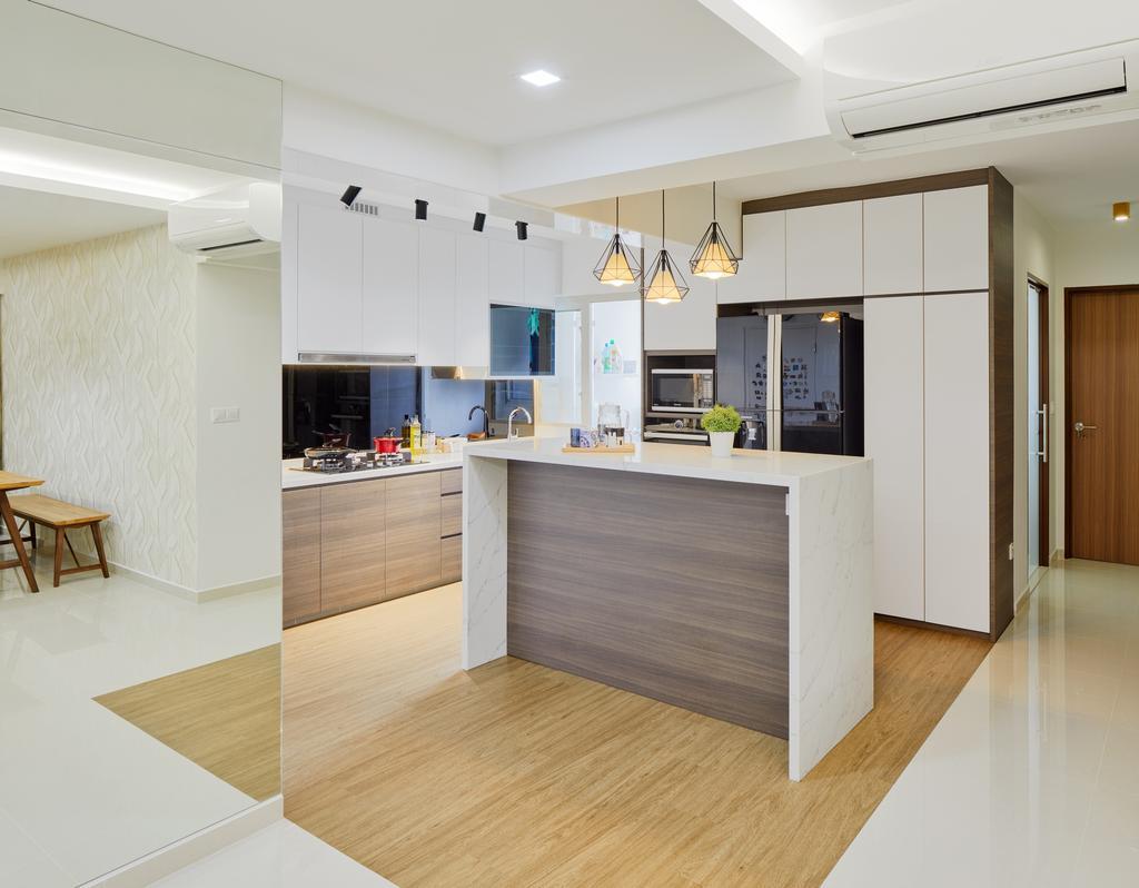 Scandinavian, HDB, Kitchen, Sumang Walk (Block 322A), Interior Designer, Absolook Interior Design