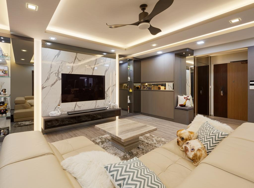 Contemporary, HDB, Living Room, Sumang Walk (Block 322D), Interior Designer, Absolook Interior Design