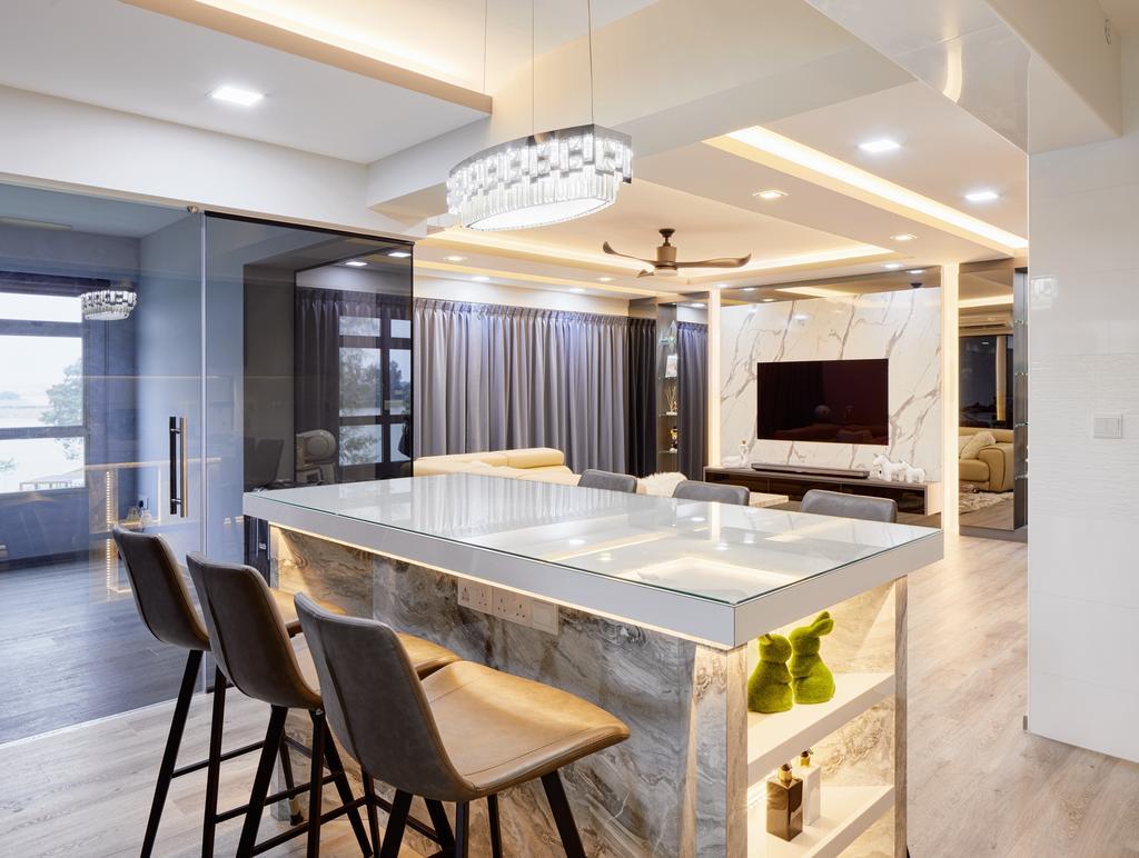 Contemporary, HDB, Dining Room, Sumang Walk (Block 322D), Interior Designer, Absolook Interior Design