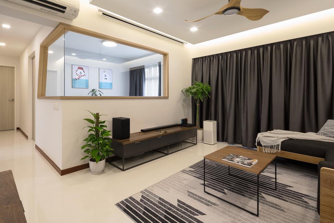 Tampines GreenRidges (Block 605C) Living Room Interior Design 4