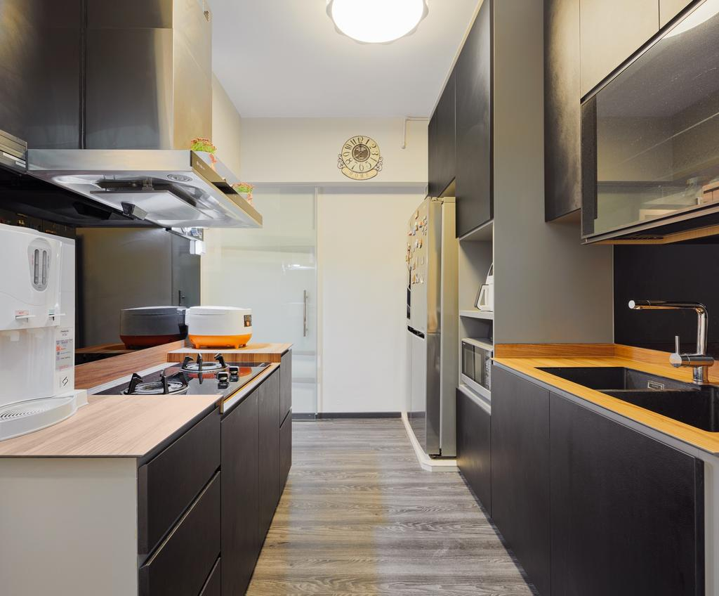 Contemporary, HDB, Kitchen, Teban Vista (Block 23), Interior Designer, Absolook Interior Design